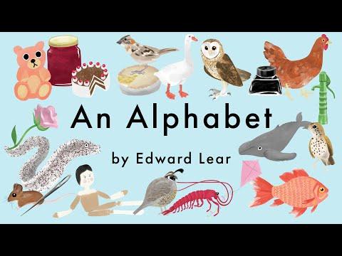 An Alphabet by Edward Lear  -  A Was Once an Apple Pie - Poem