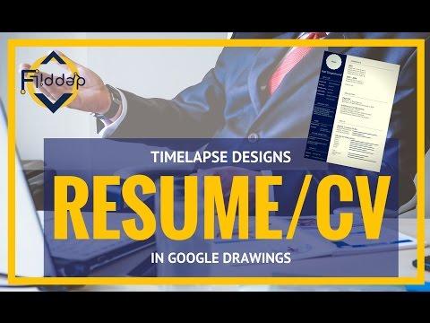 Quick CV Design in Google Drawings Timelapse