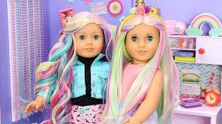 American Girl Doll Unicorn Wigs