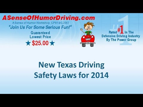New Texas Driving Safety Laws for 2014