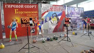Георгиевский фестиваль 2021 Гиревой спорт Армейский рывок Женщины