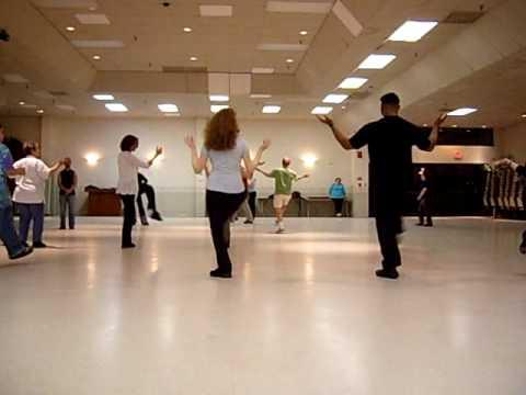 GingE dancing Seret Hodi and the beginning of Ha'amantezet line dances