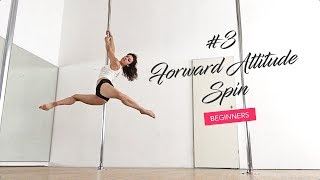How to create ballet lines on the pole / Forward Attitude Spin tutorial