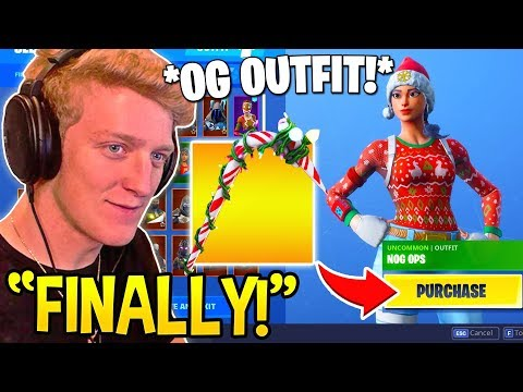 TFUE Reacts And BUYS *OG OUTFIT* NOG OPS And CANDY AXE! - Fortnite FUNNY Moments