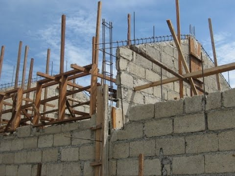 Hollow Block Construction In The Philippines Youtube