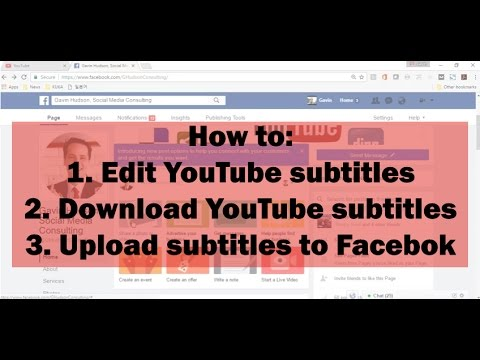 How to edit and download youtube closed captions upload subtitles how to edit and download youtube closed captions upload subtitles to facebook 2017 ccuart Gallery