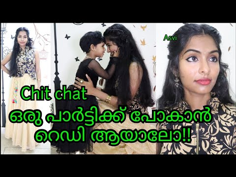 Get Ready with Me for party|simple & easy malayali makeup look|Asvi Malayalam thumbnail