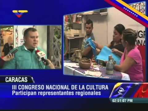 Ministro Reinaldo Iturriza desde el III Congreso Nacional de Cultura