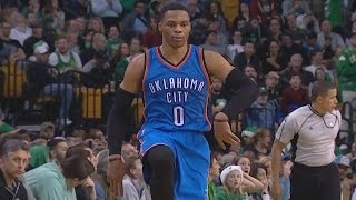 Russell Westbrook Back to Back Clutch Deep 3s! 45 Pts 11 Rebs 11 Asts Thunder vs Celtics