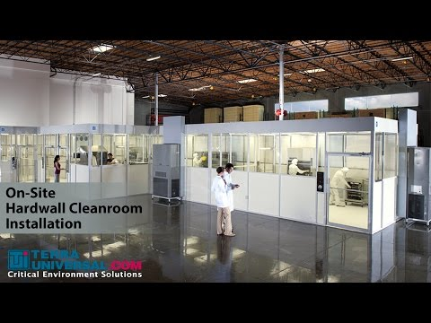 On-Site Hardwall Cleanroom Installation