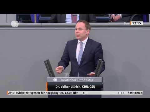 Volker Ullrich im Bundestag zu den Protesten in Hongkong