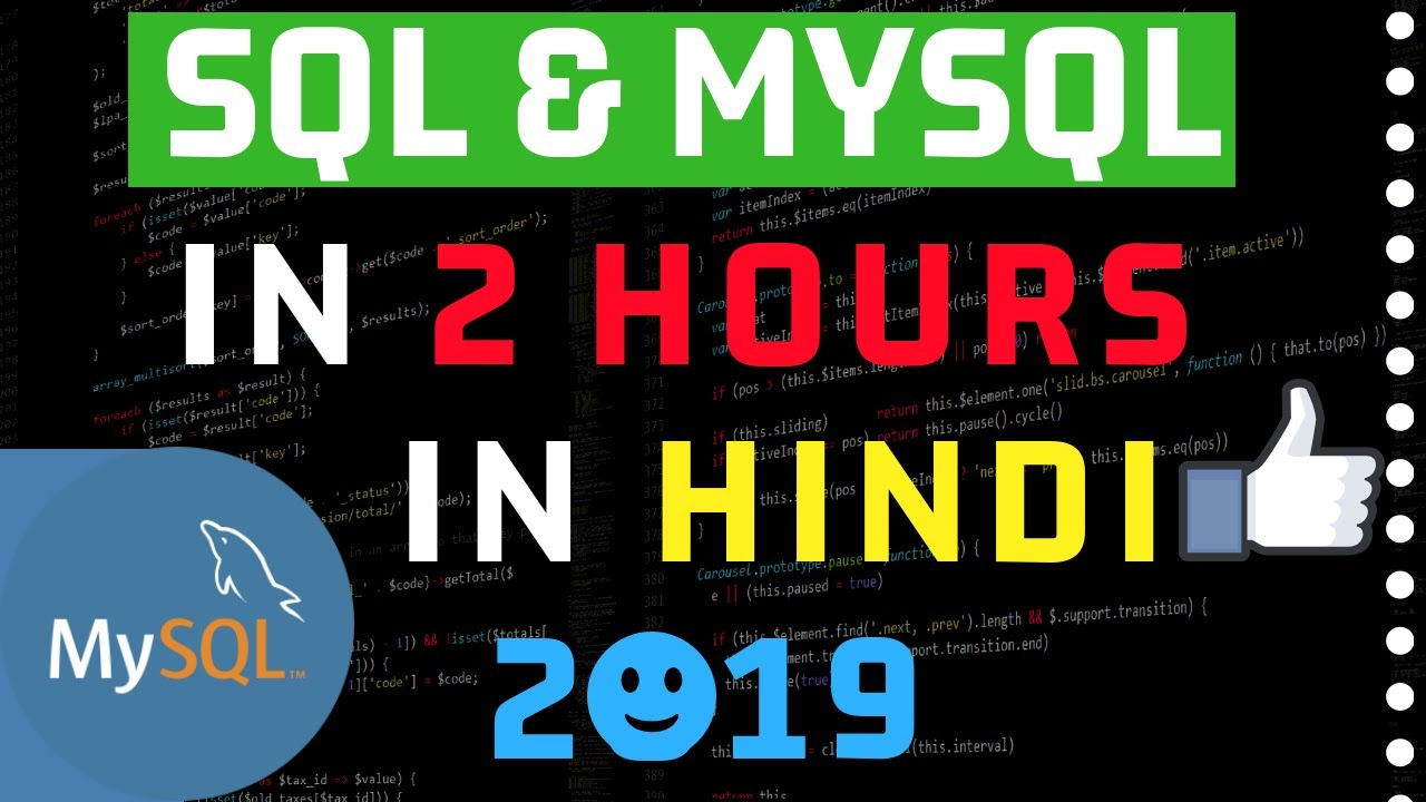 Complete SQL & MySQL in One Video in Hindi 2019🙏