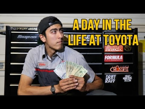 A DAY IN THE LIFE AS A TOYOTA TECHNICIAN 2019 (Tips)
