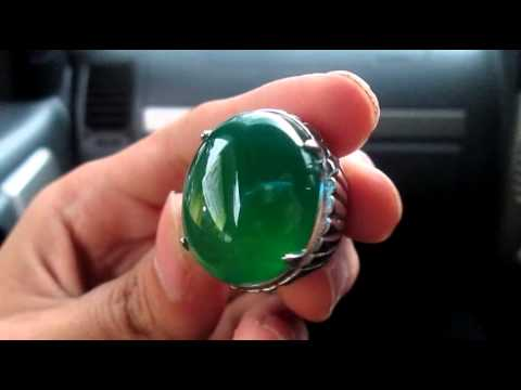 Natural Hijau Garut Kristal (Natural Chalcedony) Giwang Air Main
