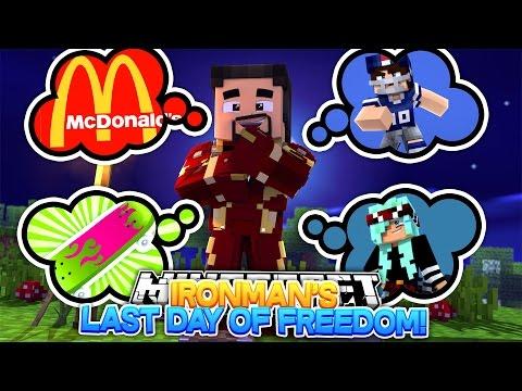 Minecraft Adventure - IRONMANS LAST DAY OF FREEDOM BEFORE HE GOES TO PRISON!!! - Видео из Майнкрафт (Minecraft)