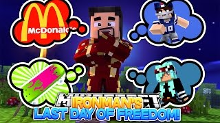 Minecraft Adventure - IRONMANS LAST DAY OF FREEDOM BEFORE HE GOES TO PRISON!!!