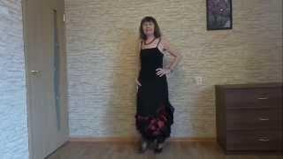 Нарядная длинная юбка с воланами и разрезами по бокам(Юбка в стиле фламенко. Вместе с черным топиком юбка выглядит как вечернее платье. Юбка на резинке. Воланы..., 2015-11-10T13:56:18.000Z)