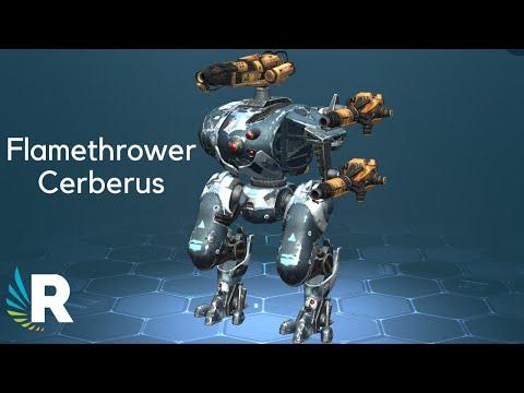 War Robots: FLAMETHROWER CERBERUS Gameplay (Ember+Igniter) 🔥