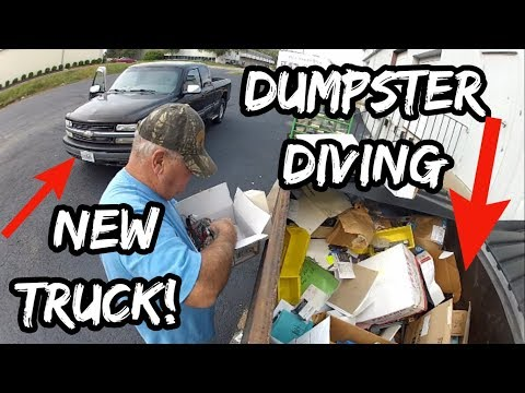 dumpster-diving-in-the-new-truck---part-1---scoring-big!