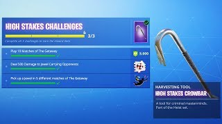 How To Get FREE High Stakes PICKAXE COMPLETE GUIDE! (Fortnite High Stakes Event Challenges)