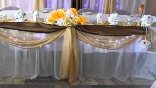 Оформление свадебного зала столовая Бархим