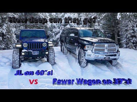 Jeep JL Rubicon vs Ram Power Wagon in the snow!