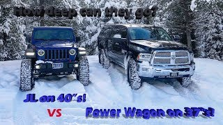 Jeep JL Rubicon vs Ram Power Wagon in the snow!