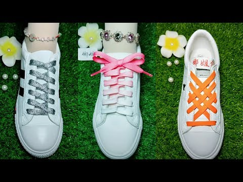 23 Style LACE SHOES Life Hack Creative WAYS How To Tie Your Shoe Laces with No Bow LaceShoes #6