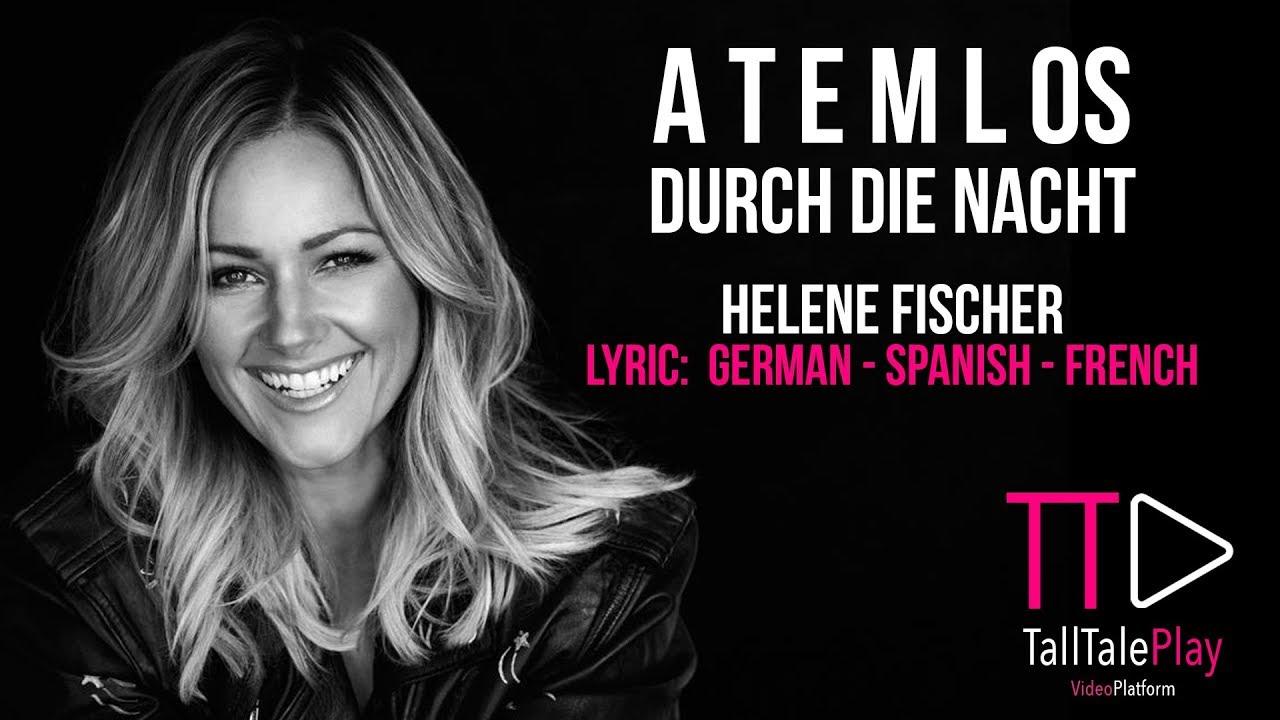 Atemlos Helene Fischer Lyric Deutsch Espanol French Karaoke Youtube