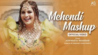 Mehendi Mashup 2021| Aishwarya Bhandari | Mehndi rachan Lagi | Mehndi songs #mehendisongs #mehndimix