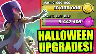 Clash Of Clans - HALLOWEEN SPENDING SPREE!! - HOW FAR CAN 10 MILLION GOLD GO?