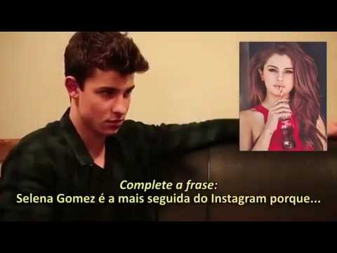 Shawn mendes talking about selena gomez