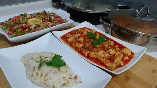 30 dakikada iftar menüsü/ Tavuk sote/ Pirinç pilavı/ Gavurdağı Salatası/SEVAL MUTFAKTA/