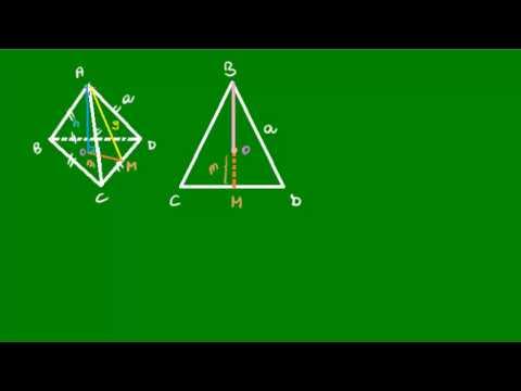 Tetraedro regular - Áreas