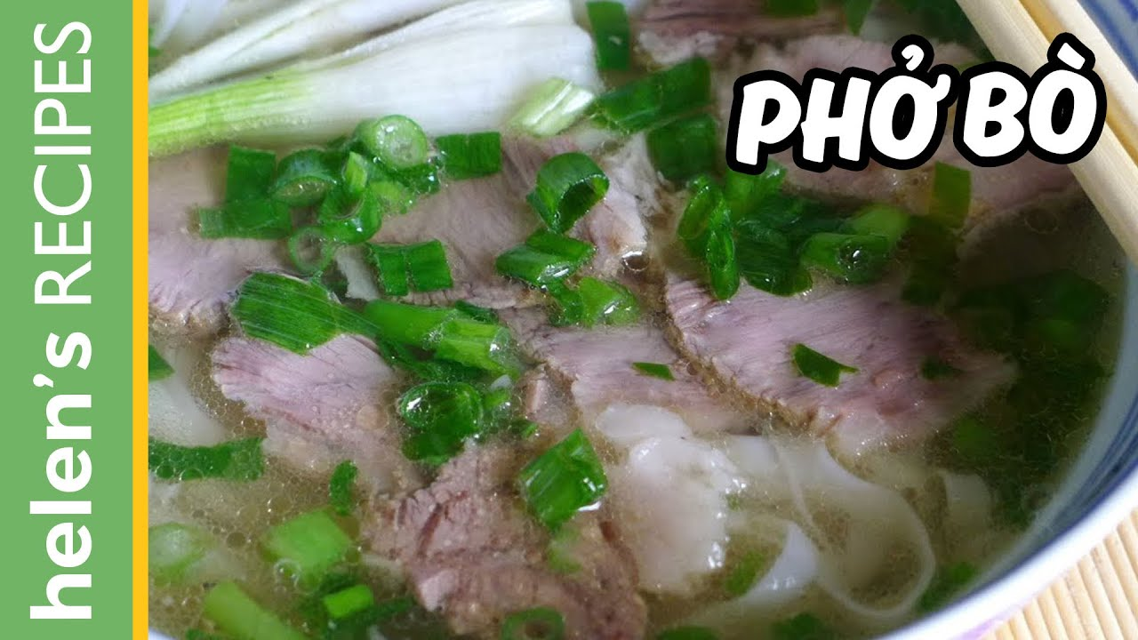 Pho bo vietnamese beef noodle soup recipe youtube forumfinder Choice Image