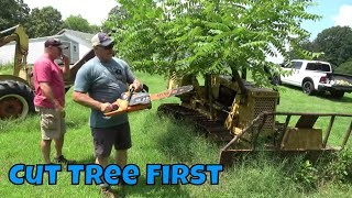 WILL IT START? ABANDONED DOZER WITH TREE