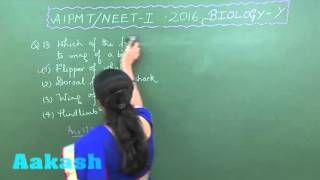 AIPMT 2016 Biology Solution Q. 13-14 Aakash (NEET Phase-I)