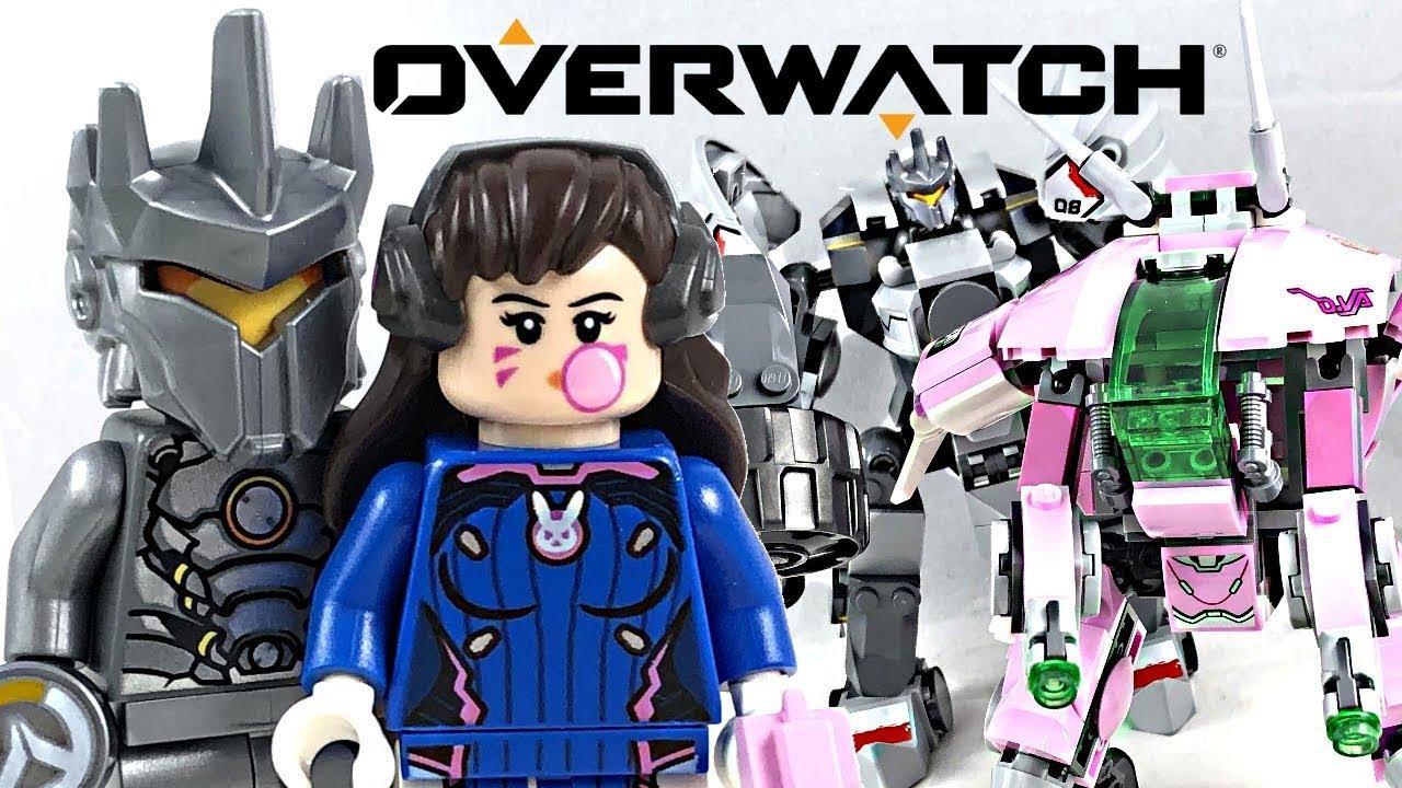 LEGO Overwatch D.Va Vs Reinhardt 75973