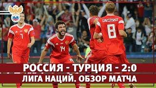 россия  Турция 2:0  Подробный обзор матча  Лига Наций 2018/2019. Лига B2  14/10/2018 HD