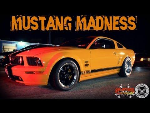 12 MIN OF MUSTANG MADNESS: San Antonio Raceway Midnight Madness 12 22 2012