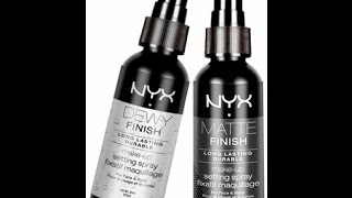 Nyx cosmetics Dewy Finish Setting Spray Review Thumbnail
