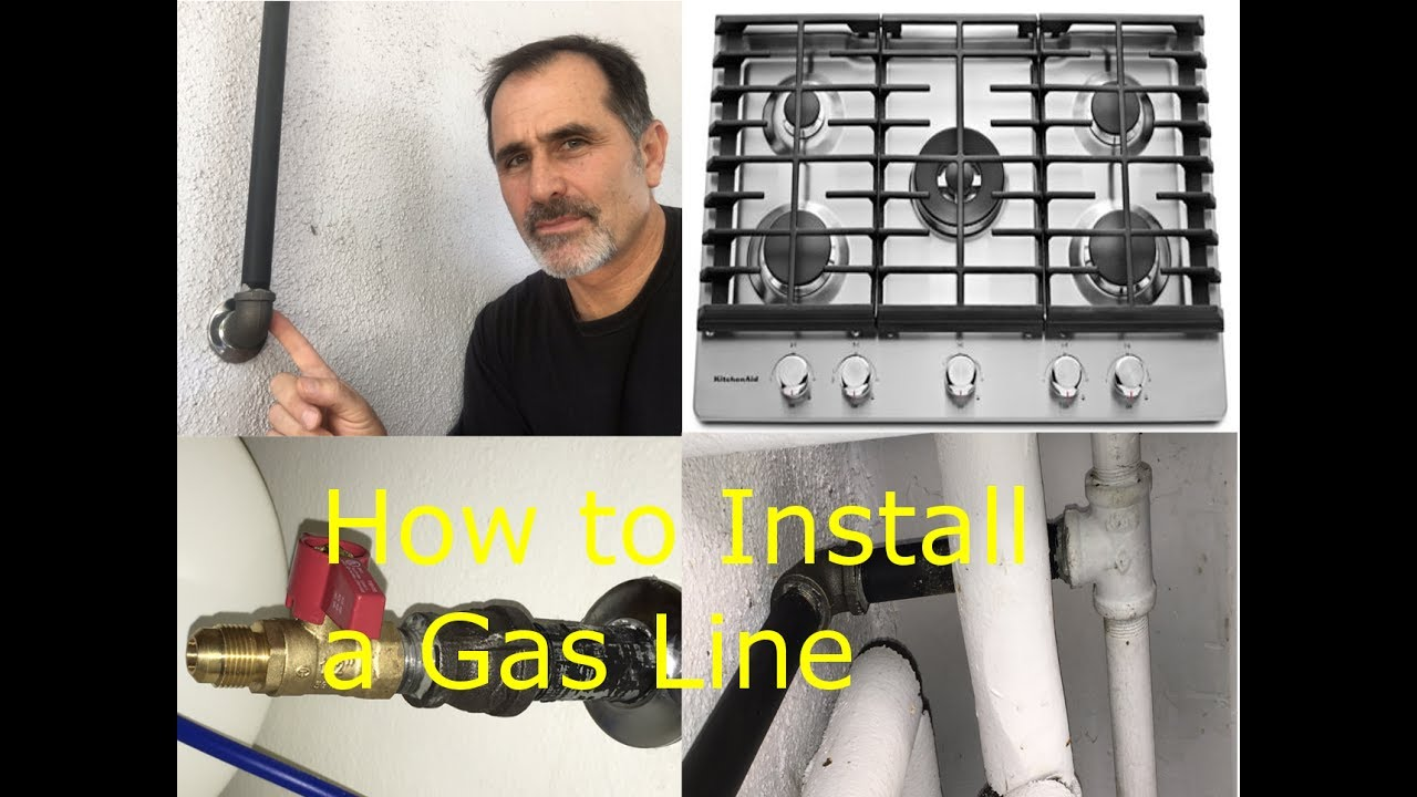 How To Install A Gas Pipe Line Stove James W