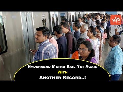 Hyderabad Metro Rail Yet Again With Another Record..!! | Telangana | Sankranthi | KCR | YOYO Times