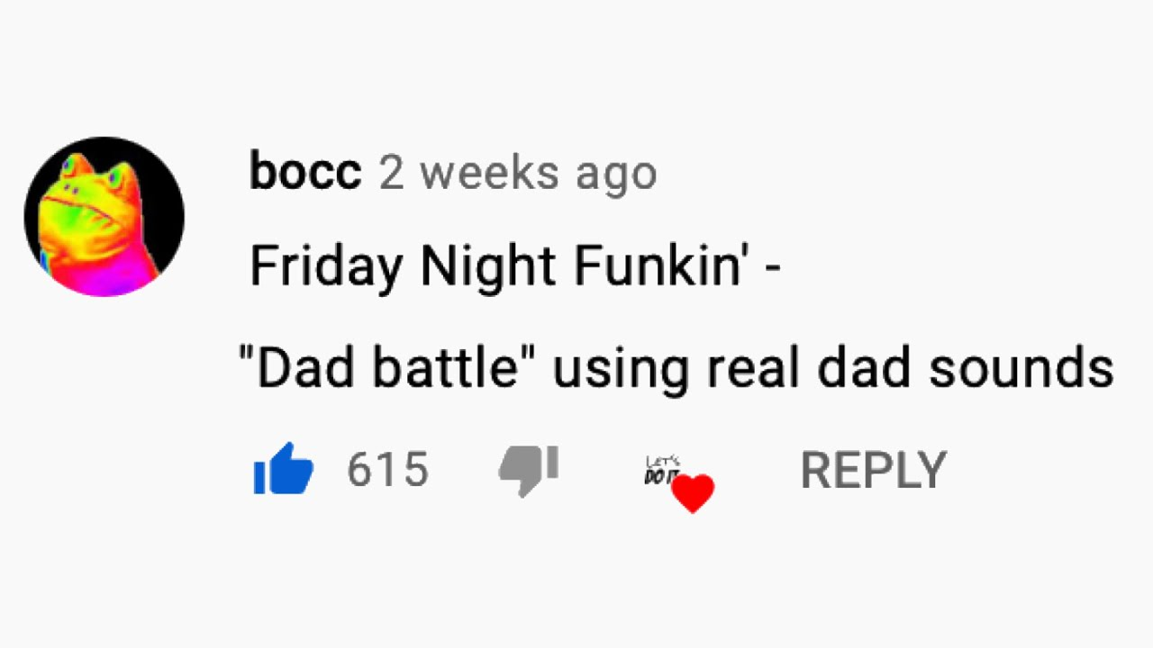 """""""Dad Battle"""" using real dad sounds - Friday Night Funkin'"""