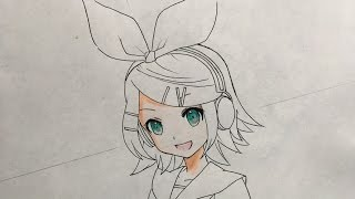 How to draw  Rin Kagamine (Vocaloid)