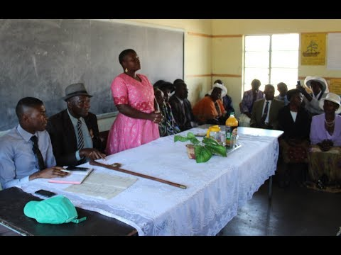 Young woman Tendai Chiveso inaugurated as new Headperson in Mashonaland Central Province, Zimbabwe