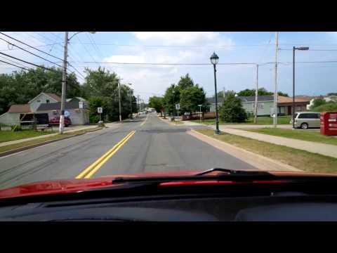 Driving Through Dominion Cape Breton Nova Scotia
