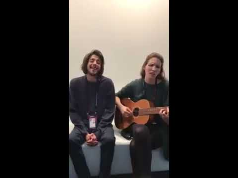 "Salvador Sobral And Luisa Sobral Singing ""Blanche - City Lights"" 2017 ESC Belgium Entry"