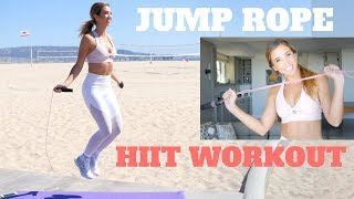 5 Minute QUICK FAT BURNING HIIT   Jumprope Workout
