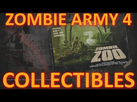 Zombie Army 4: Dead War - Zombie Zoo Collectibles Locations |